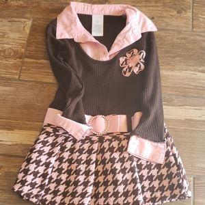 Brown & pink dress